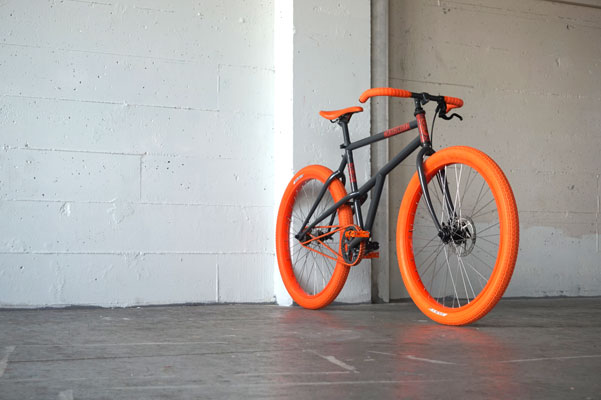 Retro-Direct Bicycle: Orange and Grey...Bold Yet Demure.